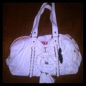 Chinese laundry white handbag